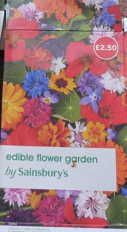 Sainsbury's edible flower garden